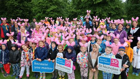 The Beavers recreated the Girls Night Out Walk with a two-mile walk around Nowton Park in Bury St Ed