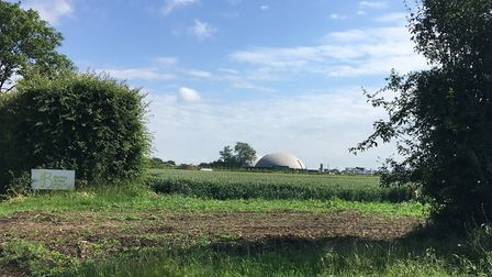 The Barely Brigg Farm anaerobic digester near Stradbroke Picture: ANDREW HIRST