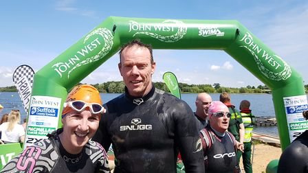 Racers took on a range of distances at the John West Great East Swim at Alton Water Park, Suffolk. P