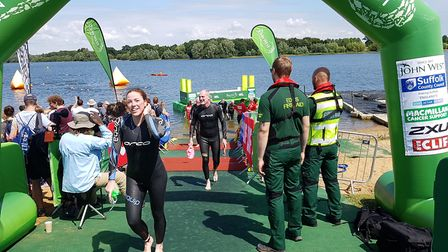 Some of the swimmers were raising money for local charities at the John West Great East Swim at Alto