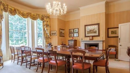 There are eight bedrooms and a number of reception rooms. Picture: JACKSON-STOPS