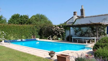 It has a swimming pool and a tennis court. Picture: JACKSON-STOPS