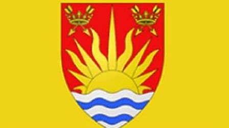 Suffolk's former flag, featuring a sunrise Picture: ARCHANT