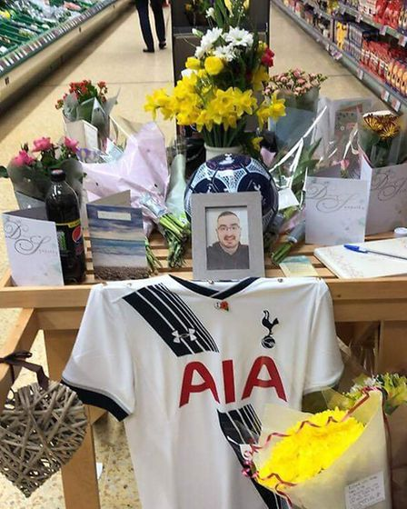 The staff at the Leiston East of England Co-operative made a tribute to Mr Smith. Customers filled t