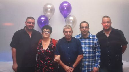 Richard Smith with his mother Stella, father Malcolm and brothers Paul and Mark Picture: CONTRIBUTED
