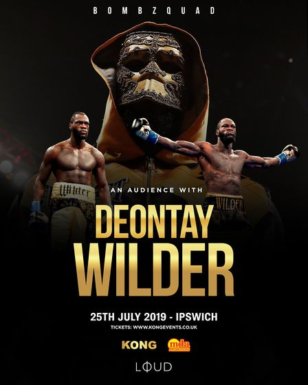 World heavyweight champion Deontay Wilder is coming to Ipswich on July 25. Picture: KONG/MDA PRODUCT
