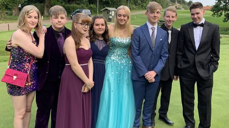 A group of students at the Beccles Free School 2019 prom. Picture: KATRINA MARSHALL