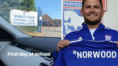 James Norwood has trained with Ipswich Town for the first time today. Picture: JNORS10INSTAGRAM/ITFC