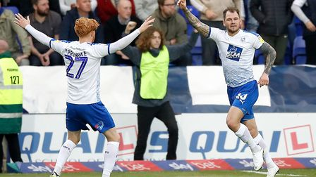 Ipswich Town new boy James Norwood (right) scored 32 goals for promoted League Two side Tranmere Rov