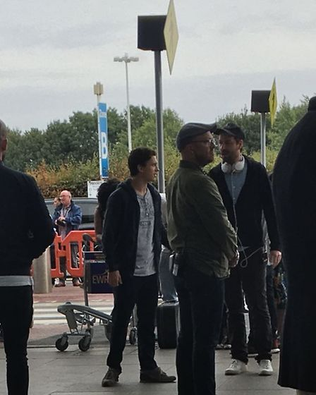 Spider-Man actor Tom Holland filming at Stansted Airport. Picture LONDON STANSTED AIRPORT