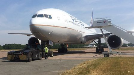 Stansted Airport starred in filming for the new Spider-Man movie. Scenes using a United Airlines Boe