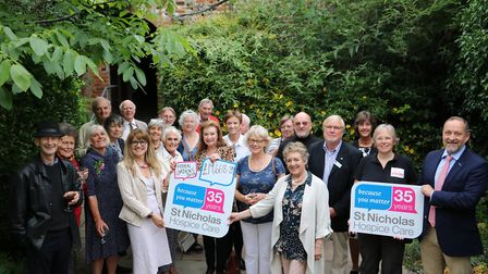 By opening up their Bury St Edmunds gardens to the public thousands has been raised for St Nicholas