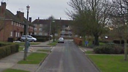The robbery happened in Tennyson Road, Bury St Edmunds Picture: GOOGLE MAPS