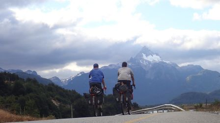 The pair cycled 7,595 miles in 129 days with just 11 days off of the bike completely due to illness
