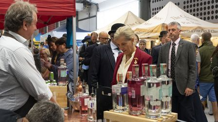 Trade stands at the Royal Norfolk Show. Picture: BRITANNY CREASEY.
