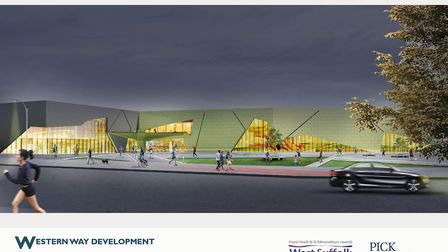 An artist's impression of the development by night published in 2018. Picture: WEST SUFFOLK COUNCILS