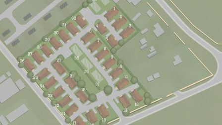 A map of how the new mobile home park in Mildenhall will look. Picture: WYLDECREST PARKS