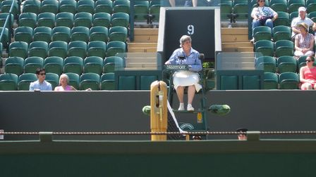 Line judge Wendy is hoping for a dry Wimbledon this year Picture: WENDY SMITH