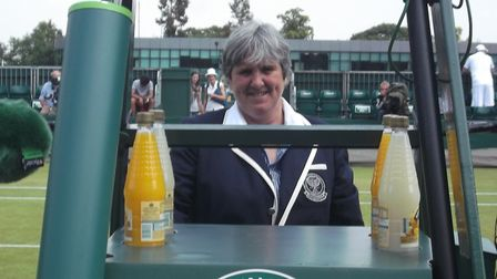 Wendy says she still gets a buzz when she goes through the gates of Wimbledon each morning Picture: