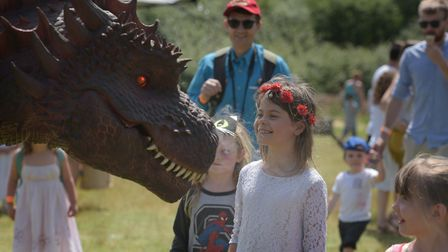 Visitors enjoyed a day in the sunshine at Dragon Fest at the Anglo Saxon Village in West Stow Pict