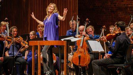 Barbara Hannigan conducts and sings Gershwin with Ludwig Orchestra at Aldeburgh Festival 2019 Photo