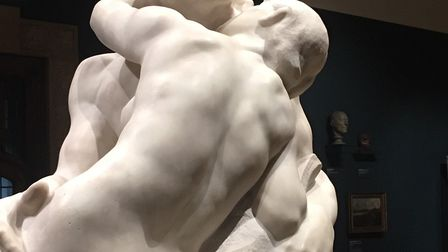 A kiss on the lips can be quite continental -French sculptor Rodin's The Kiss when it was at the Wol