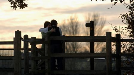 Chances to kiss at the kissing gates dotted along Dedham Vale. Picture: Owen Hines/
