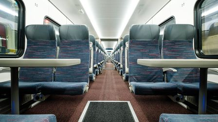 Standard class seating in the new Greater Anglia Intercity train. Picture: GREATER ANGLIA
