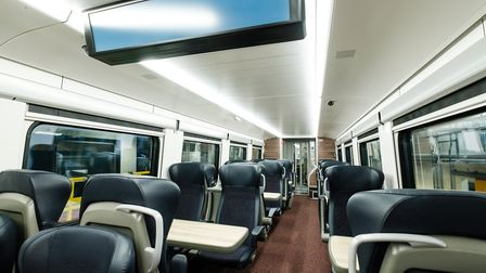 New First Class seating in the Greater Anglia Intercity train. Picture: GREATER ANGLIA