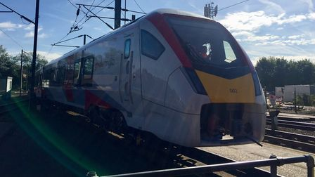 One of the new Greater Anglia Intercity trains at Crown Point in Norwich. Picture: GREATER ANGLIA