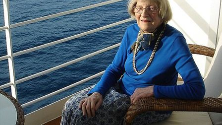 Marguerite Hayward on the Regent Seven Seas cruise. Picture: FRED HAYWARD
