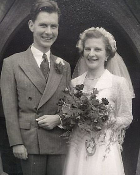 The Haywards on their wedding day. Picture: FRED HAYWARD