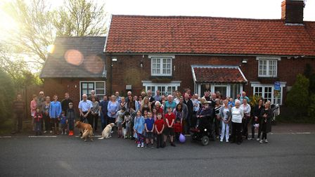 Campaigners in Chedburgh are fighting to raise funds to buy the village pub Picture: CMCH