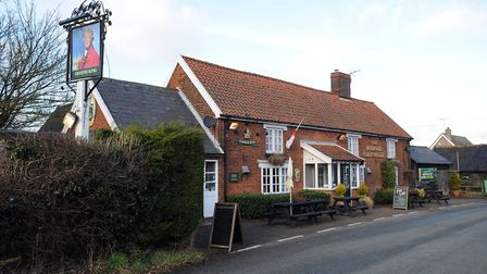 The pub pictured while still in use in Chedburgh Picture: PHIL MORLEY