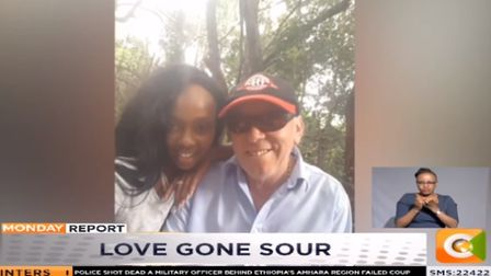 Steven White pictures with his fiancee Peris Njambi as shown on The Monday Report Picture: KENYA CIT