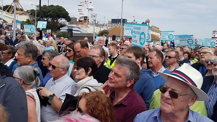 Hundreds of people turned out to see Nigel Farage when he visited Clacton during the spring. Pictur