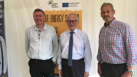 Lord Deben (centre) alongside fellow speaker Nic Bury from the University of Suffolk (left) and Nick