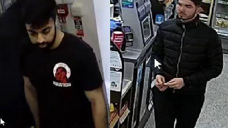 Police want to speak to these men in connection with an ongoing hate crime investigation Picture: S
