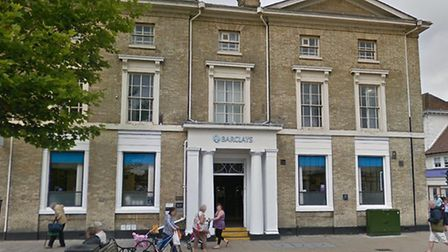 A man has been arrested on suspicion of lead theft from Barclays in Braintree Picture: GOOGLE MAPS