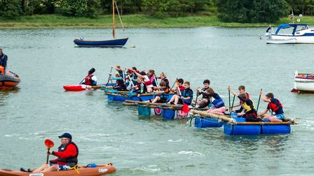 A record number of entrants took part in the Woodbridge Regatta raft race last year Picture: ROBIN