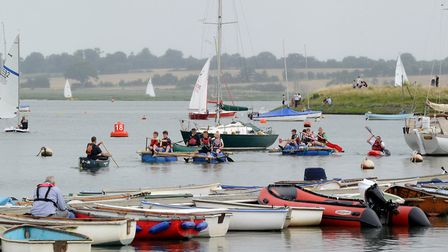 The Woodbridge Regatta and Riverside Fair drawing large crowds last year Picture: ANDY ABBOTT