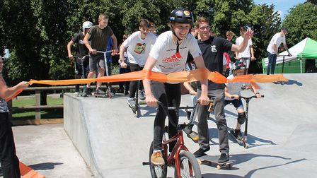 The new skatepark and MUGA area are now open in Sudbury Picture: BABERGH DISTRICT COUNCIL
