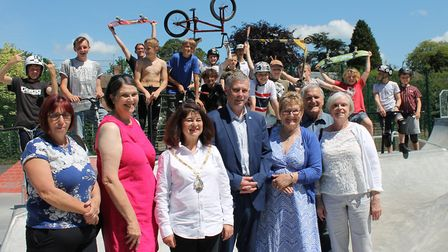 The skatepark and games area were officially opened on Saturday Picture: BABERGH DISTRICT COUNCIL