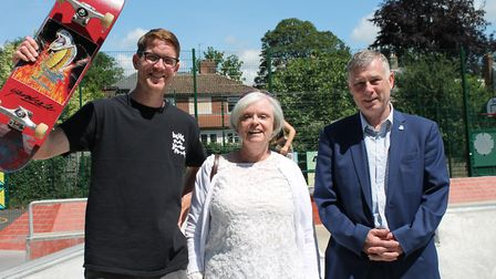 Sudbury's new skatepark and games area was officially opened at the weekend Picture: BABERGH DISTRIC