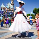 Mary Poppins in Disneyland - she responded to the job description written by children Jane and Micha
