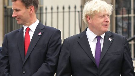 A 2012 picture of Jeremy Hunt and Boris Johnson. One of these men will be the next Prime Minister an