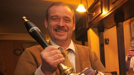 The Greyhound Pub's cellar manager Dick Mainwaring Picture: SARAH LUCY BROWN