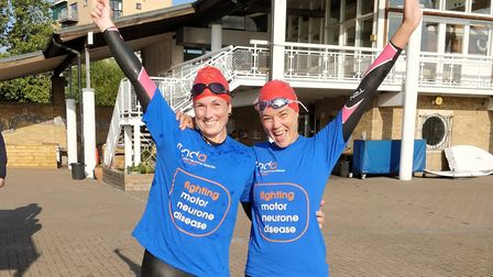 Emily Kell and Laura-Mai Edwards are undertaking 12 outdoor swims before the end of the year in aid
