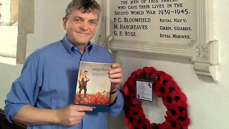 Robin Sharp, author of Valiant Hearts, which tells the stories of 18 men listed on First and Second