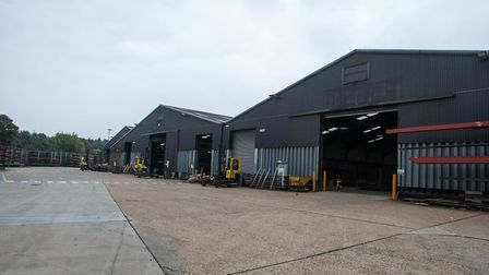 Warehouses at AJN Steelstock Ltd at Kentford Picture: PAUL COOK PHOTOGRAPHY